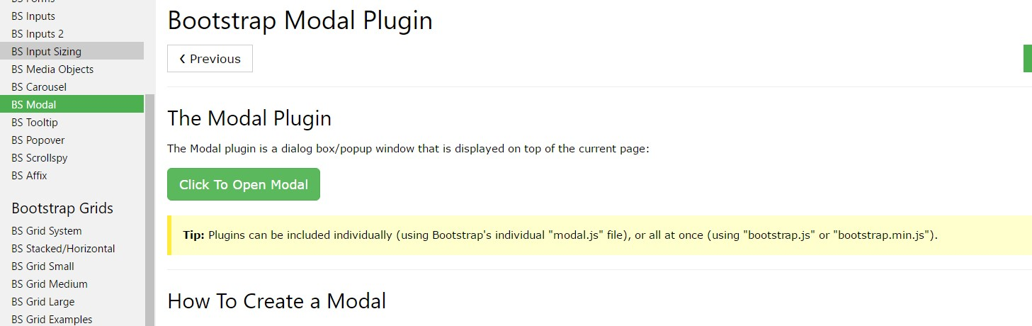 Bootstrap modal  information