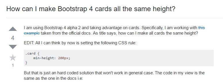 Insights on  precisely how can we  establish Bootstrap 4 cards just the same tallness?