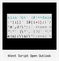 Encrypted Html 4test script open outlook