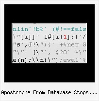 Js Packing apostrophe from database stops javascript