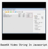 Php Compress Html Leave Javascript base64 video string in javascript