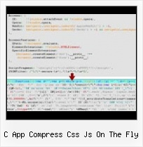 Javascript Perl Compressor c app compress css js on the fly