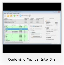 Eclipse Javascript Compress combining yui js into one