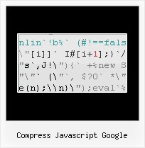 Obfuscate Json compress javascript google