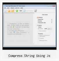 How To Use A Javascript And Protect The Code Into A Php File Js Php compress string using js