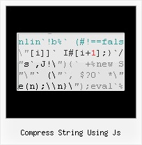 Use Javascript To Obfuscate Html And Css compress string using js