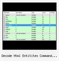 Javascript Compactor Linux Command Line decode html entitites command line tool