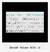How To Decompress Packer Javascript decode values with js