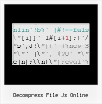 Yui Compressor Missing Code decompress file js online
