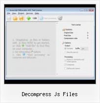 Encrypted Html decompress js files