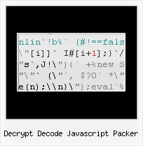 Decode Values With Js decrypt decode javascript packer