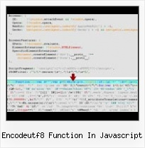As3 Obfuscator Sitelock encodeutf8 function in javascript