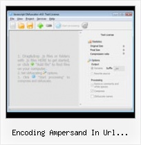 Yahoo Compressor Mojo encoding ampersand in url hyperlink