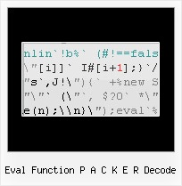 Yahoo Compressor Change Function Names eval function p a c k e r decode