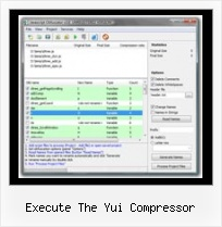 Javascript Encode Character execute the yui compressor