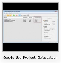 Lzw Php Javascript google web project obfuscation