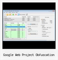 Javascript Compress Cookie google web project obfuscation