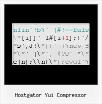 Yahoo Compressor Change Function Names hostgator yui compressor
