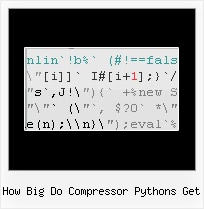 Javascript Ifolder how big do compressor pythons get