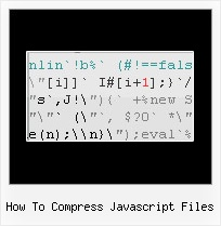 Javascript Encode Html Special Characters how to compress javascript files