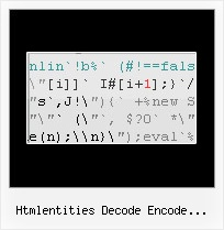 Js Minify Unpack htmlentities decode encode javascript jquery