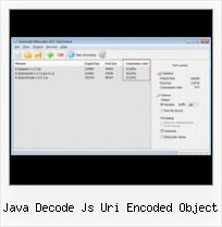 Yui Compressor Comparison Jsmin java decode js uri encoded object