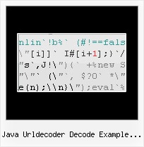 Google Closure Obfuscate Ant java urldecoder decode example javascript encode