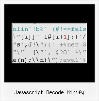 Javascript Compression Library javascript decode minify