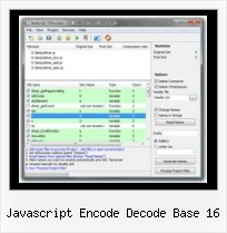 Free Html Obfuscator Sourceforge javascript encode decode base 16