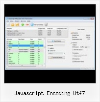 Rgraph Json javascript encoding utf7