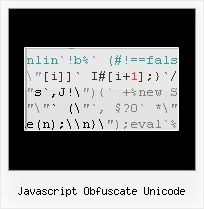 Javascript Compress Obfuscator C Open Source javascript obfuscate unicode