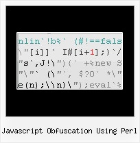 Javascript Decompress Online javascript obfuscation using perl
