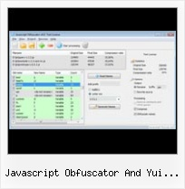 Javascript Obfuscate Unicode javascript obfuscator and yui compressor