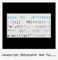 Js Protection javascript obfuscator and yui compressor
