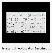 Javascript Obfuscator Decoder Online - Javascript Obfuscator