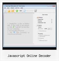 Grails Obfuscate javascript online decoder