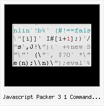 Javascript Minimize Netbeans javascript packer 3 1 command line version