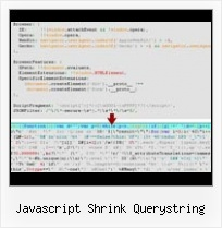 Output Of Js P A C K E R javascript shrink querystring