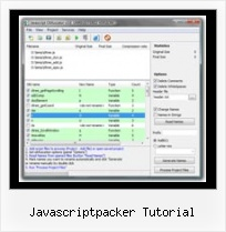 Yahoo Compression Tool For Jsps javascriptpacker tutorial
