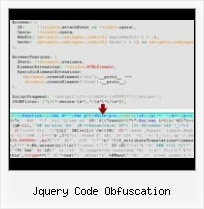 Html Encryption jquery code obfuscation