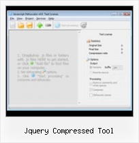 Html Minify Online jquery compressed tool