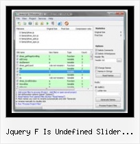 Jquery Javascript Minifier Tool jquery f is undefined slider progress