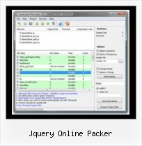 Reverse Javascript Compression jquery online packer