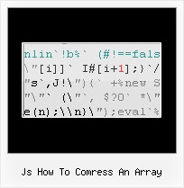 Javascript Encode Demo js how to comress an array