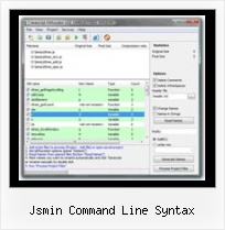 Pack Javascript Files Online jsmin command line syntax