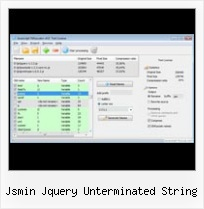 Javascript Compress Tool jsmin jquery unterminated string