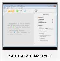 Dean Edwards Packer Closure manually gzip javascript