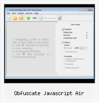 Jsmin Rename Variables obfuscate javascript air