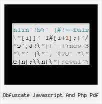 Js Compress String obfuscate javascript and php pdf