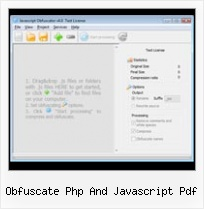 Online Css Applications obfuscate php and javascript pdf